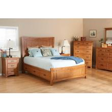 LSO Prairie City Queen Panel Storage Bed Summer Finish