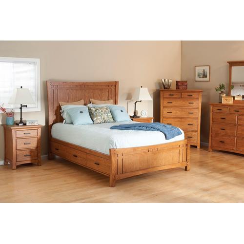 Whittier Wood - LSO Prairie City Queen Panel Storage Bed Summer Finish