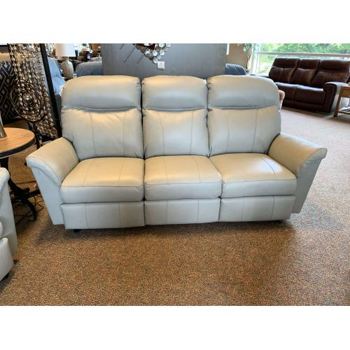 Caitlin Power Reclining Leather Sofa - Grey
