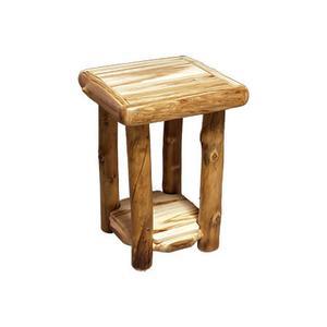 "End Table Wild Panel Natural Log 18"""