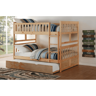 Bartly Bunk Bed Full on Full with Twin Trundle