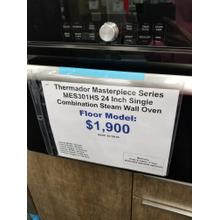 "Thermador Masterpiece Series 24"" Single Combination Steam Wall Oven MES301HS (FLOOR MODEL)"