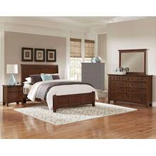 King Cherry 4 PC Bedroom Set - Sleigh Bed