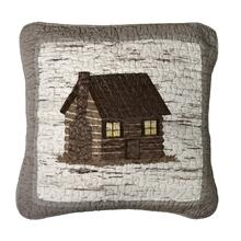 "Birch Forest ""Cabin"" Throw Pillow"