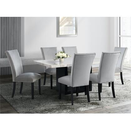 Valentino - 7 pcs Dining Set Table Marble