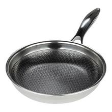 Black Cube Stainless Steel Fry Pan, 8-Inches