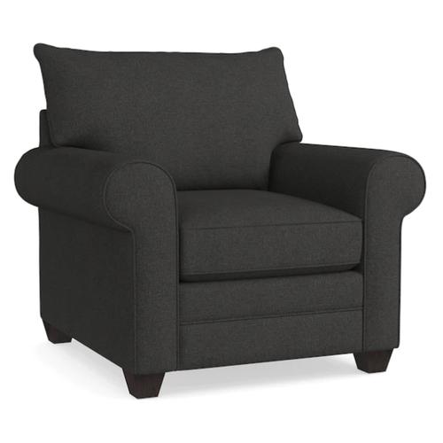 Alex Roll Arm Chair - Charcoal