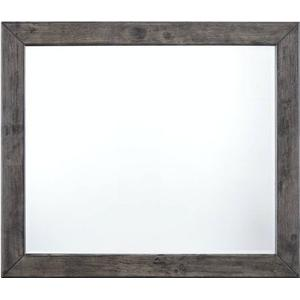 Elements - Nathan Mirror in Distressed Gray Oak Finish