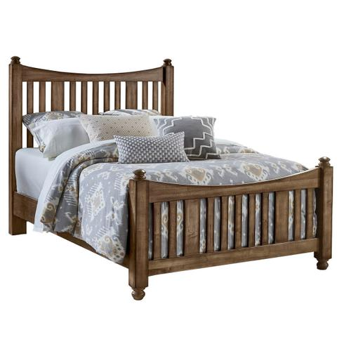 Artisan & Post Maple Road 3-Piece Queen Size Slat Poster Bed in Maple Syrup Finish