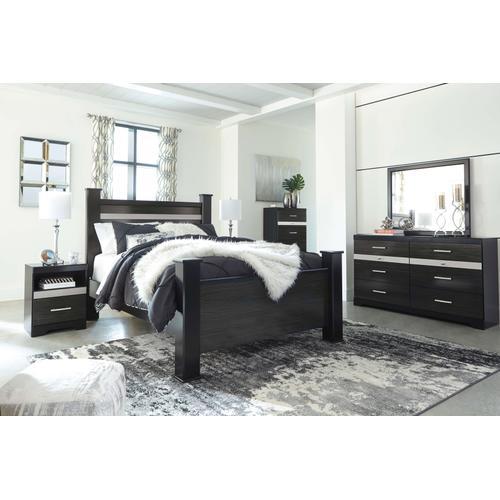 Starberry - Queen Poster Bed, Dresser, Mirror, & 1 x Nightstand