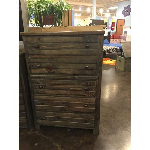 5 Drawer Chest Rustic Grey
