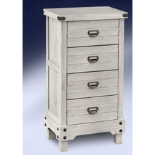 """See Details - 37"""" High WASHED GREY CABINET W/ GUNMETAL ACCENTS      (AFG301NS,53113)"""