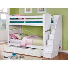 Twin-Twin Ashton Bunk Bed with Stairs