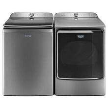 """Top Load Sanitize Cycle  30"""" Washer with Front Load  29"""" Electric Dryer Laundry Pair in Metallic Slate"""