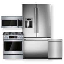 "See Details - Stainless Steel 36"" French Door Refrigerator & Gas Slide in Range- 4 Piece Package"