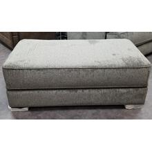 See Details - Oversize Ottoman  in Lux Iron with Espresso Leg