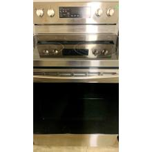 USED- 5.9 cu. ft. Freestanding Electric Range with Convection in Stainless Steel- E30SSGLAS-U SERIAL #55