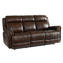 Marquee Leather Power Reclining Sofa with Power Tilt Headrests