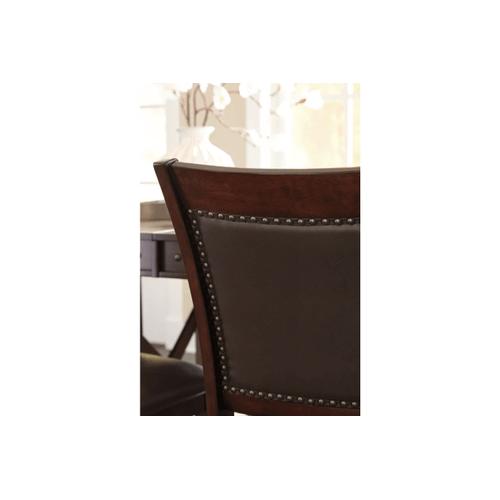 Collenburg - Dark Brown - 9 Pc. - Rectangular Counter Extension Table & 8 Upholstered Barstools
