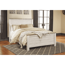 Willowton- Whitewash- Queen Panel Bed