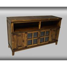 "Rustic Antique Dark 60"" Entertainment Console"