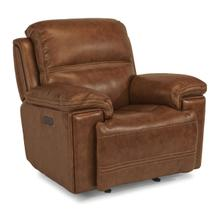 See Details - Fenwick Leather Power Gliding Recliner with Power Headrest