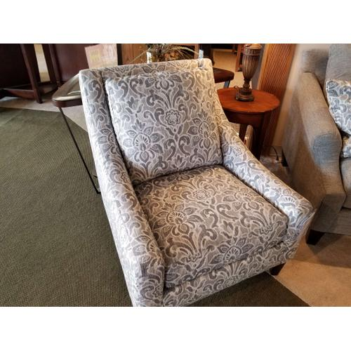 Bauhaus Accent Chair in Balmoral Slate Fabric