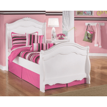 Exquisite- White- Twin Sleigh Bed