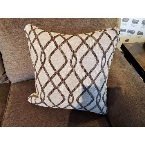 Thornton Sofa in Java Fabric with Two (2) Natural Pillows