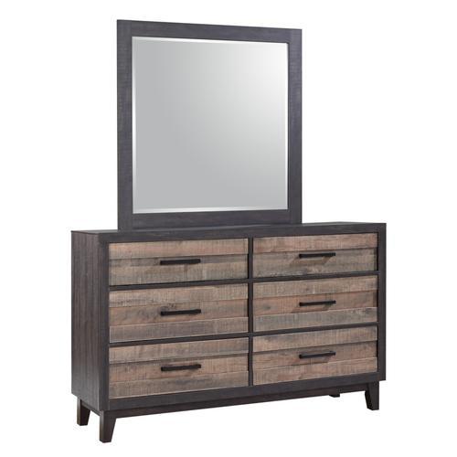 Crown Mark - Tacoma 2 Tone Dresser and Mirror Set