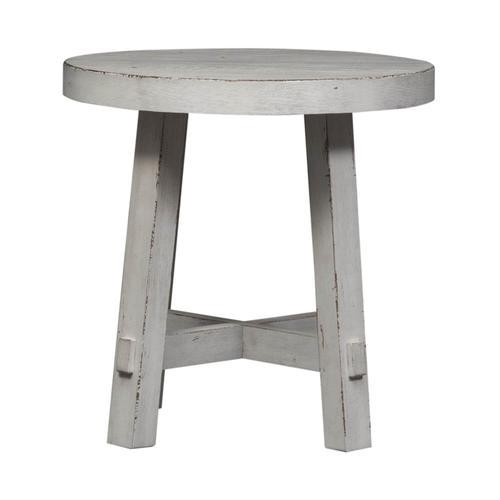 Modern Farmhouse Splay Leg Round End Table