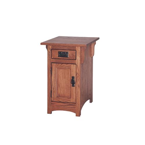 Country Value Woodworks - Mission Chair Side Table With Door