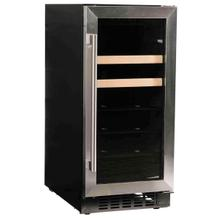 "15"" Beverage Center with Stainless Trim Glass Door"