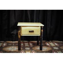 1 Drawer Hickory Nightstand