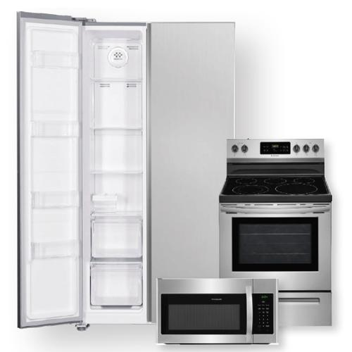 18.8 Cu. Ft. 36-Inch Counter-Depth Side-by-Side Refrigerator & Electric Range Package