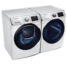 SAMSUNG Front Load 5.0 cu. ft. AddWash Washer & 7.5 cu. ft. Electric Dryer in White