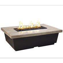 Contempo Rectangle Firetable Silver Pine