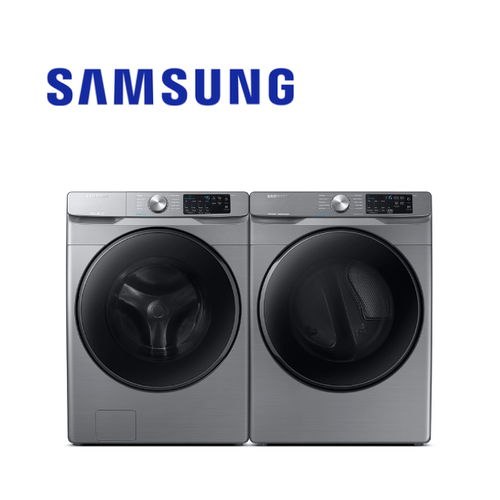 View Product - Samsung Platinum Front Load Laundry Pair Package