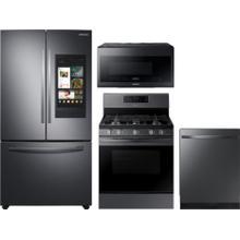 Samsung Black Stainless Steel 4 Pc Kitchen Package