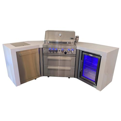 Mont Alpi 400  Deluxe Island with 45 degree corners and fridge module