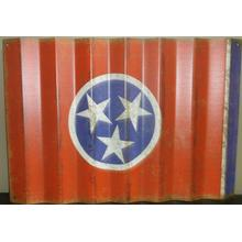 Tennessee Flag Corrugated Sign