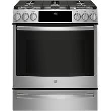 GE Profile 5.6CF Stainless Steel LIquid Propane Slide In Convection Range with Self Cleaning