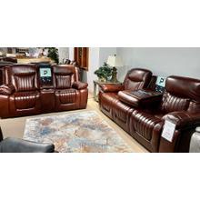 See Details - Vintage Mochernut Leather Full Power Sofa & Loveseat