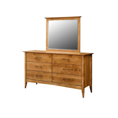 Country Value Woodworks - Simplicity 6 Drawer Dresser with Mirror