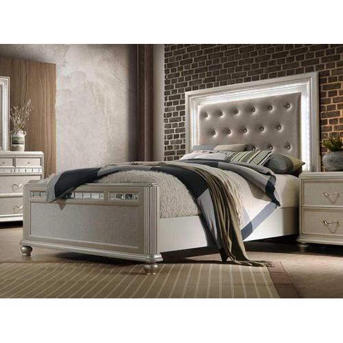 AVALON B00846-D-M-5H-5F-56R Kaleidoscope Reflections 3-Piece Bedroom Group - Queen Bed, Dresser & Mirror