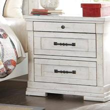 Trisha Yearwood Coming Home Cozy Three Drawer Nightstand with Power Strip and Wire Management