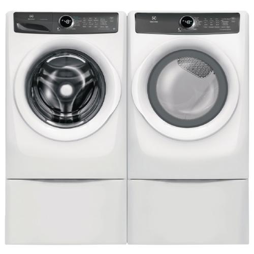 ELECTROLUX 4.3 cu.ft. Front Load Washer with LuxCare Wash & 8.0 cu.ft. Perfect Steam Electric Dryer w/ Pedestals