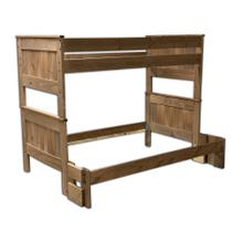 View Product - Twin/Full Mahogany Bunk Bed