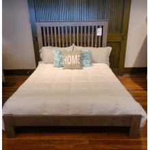 See Details - Shaker Slat Queen Bed - Driftwood