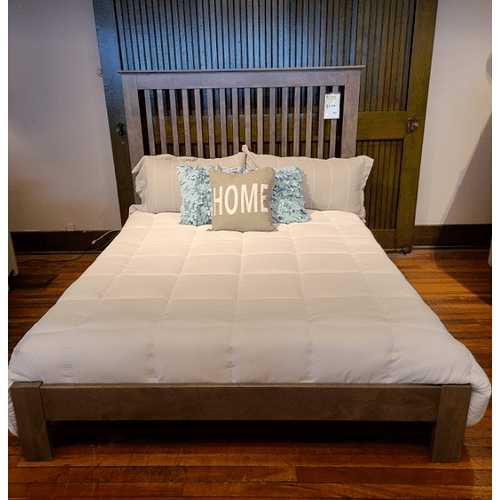 Archbold Furniture - Shaker Slat Queen Bed - Driftwood